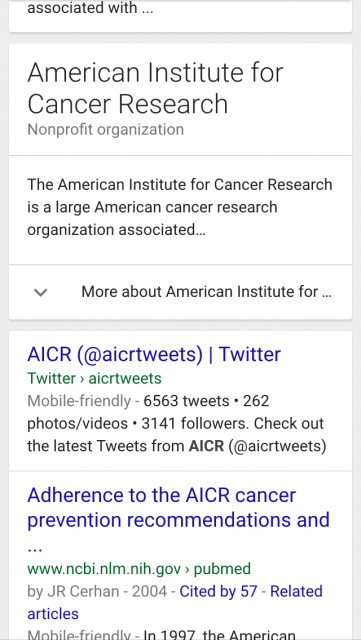AICR-Tweets-in-Google-search