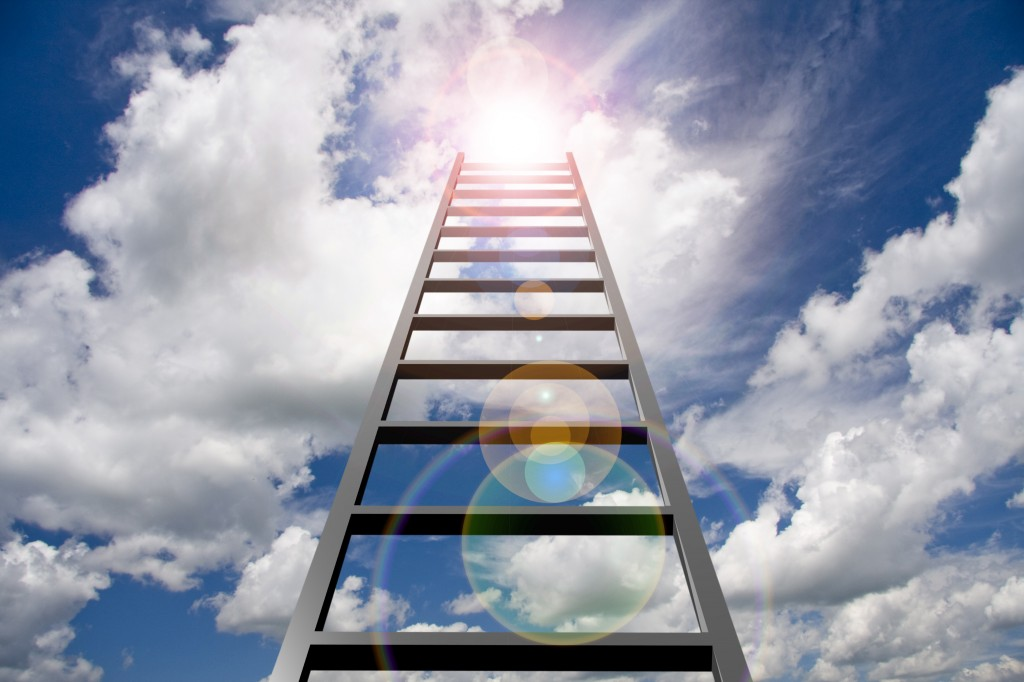Ladder to Sky shutterstock_136776005