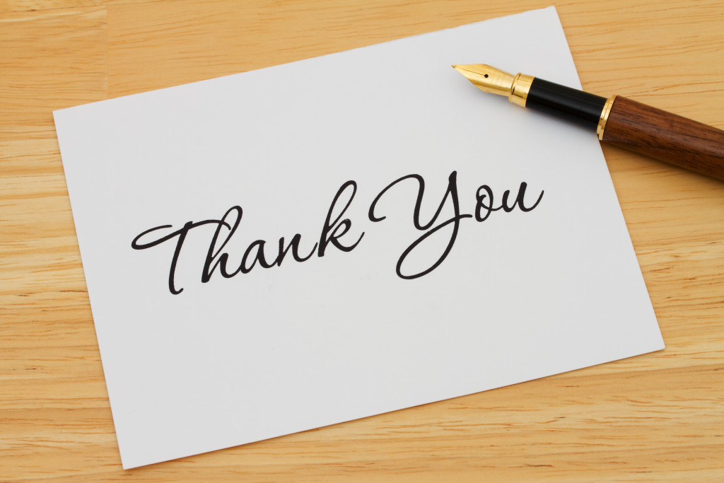 Thank you note shutterstock_136805609